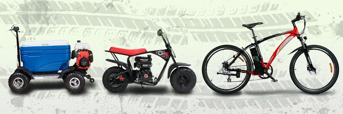 Fun for all the family! Buy Cooler Scooters, Electric Bikes and Mini Bikes online