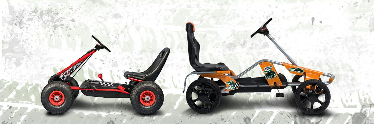 Perfect for those too young to ride the powered karts, our pedal power karts are sturdy, lightweight, and easy to manoeuvre