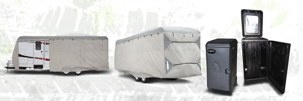 Browse our Kiwistow range of caravan covers and tack boxes